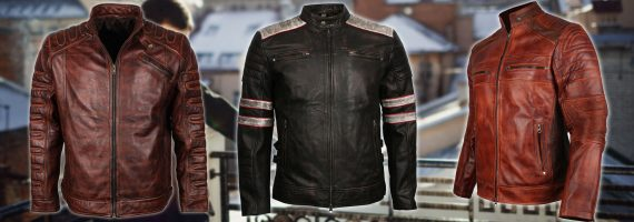Mens Leather Biker Jackets