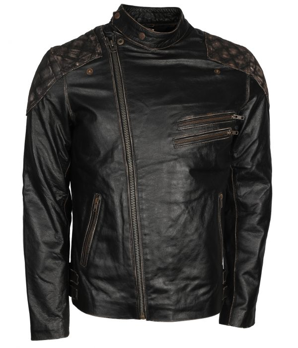 Skull Jacket Black Bikers Leather
