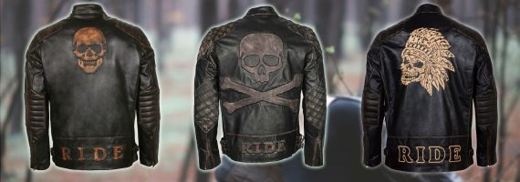 Skull Jacket in Real Leather