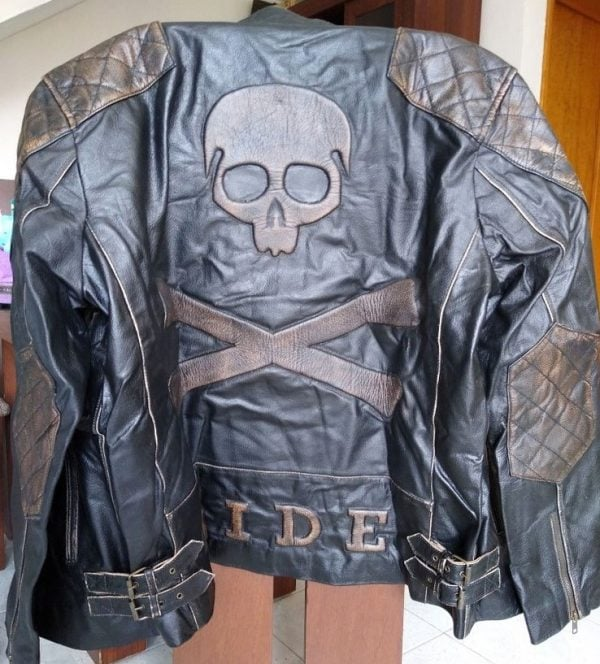 Skull-and-Cross-Bones-Rider-Leather Jacket