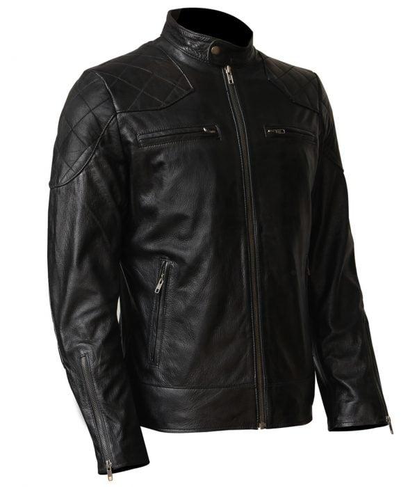 David Beckham Leather Jacket Black