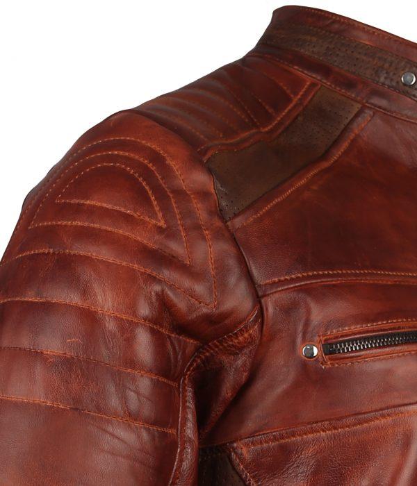 Cafe Racer Mens Fashion Biker Leather Jacket
