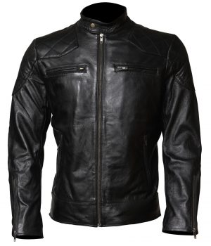 David Beckham Leather Jacket Mens Biker