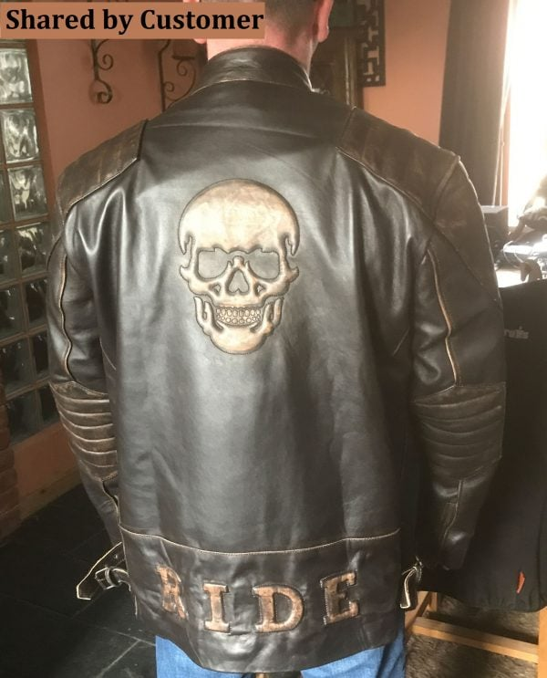 Mens Skull Motorcycle Leather Jacket Review