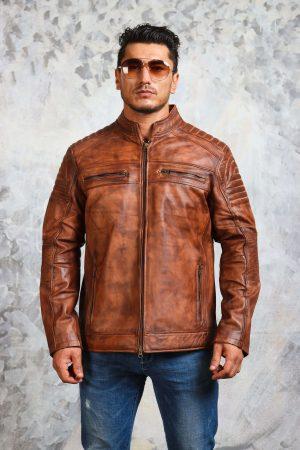 Cafe racer jacket mens biker