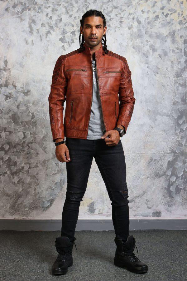 Killing Joke Brown Leather Jacket