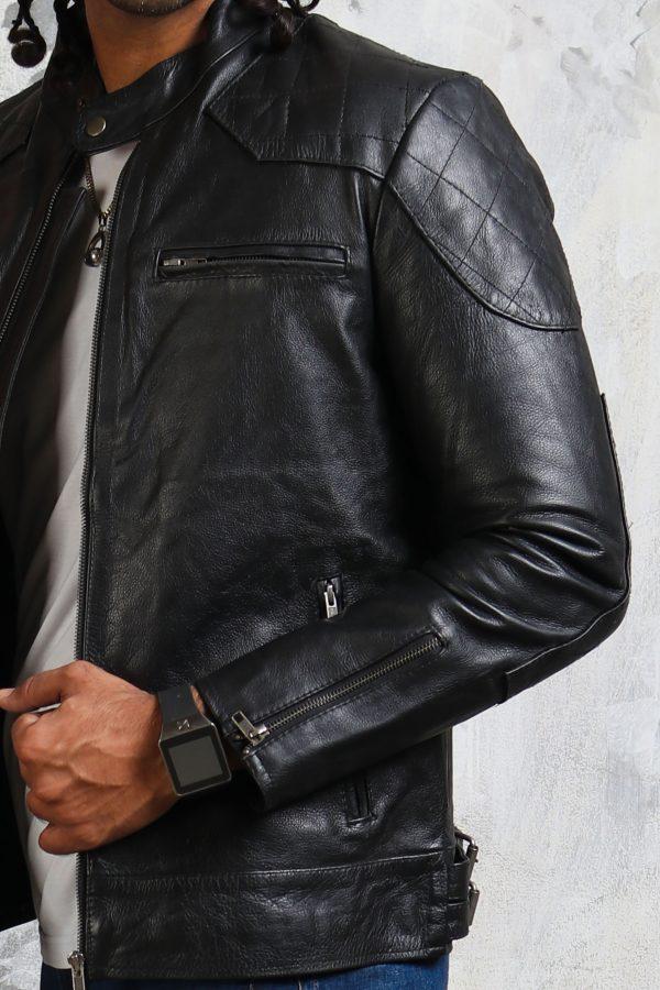 Leather Biker Jacket David Beckham
