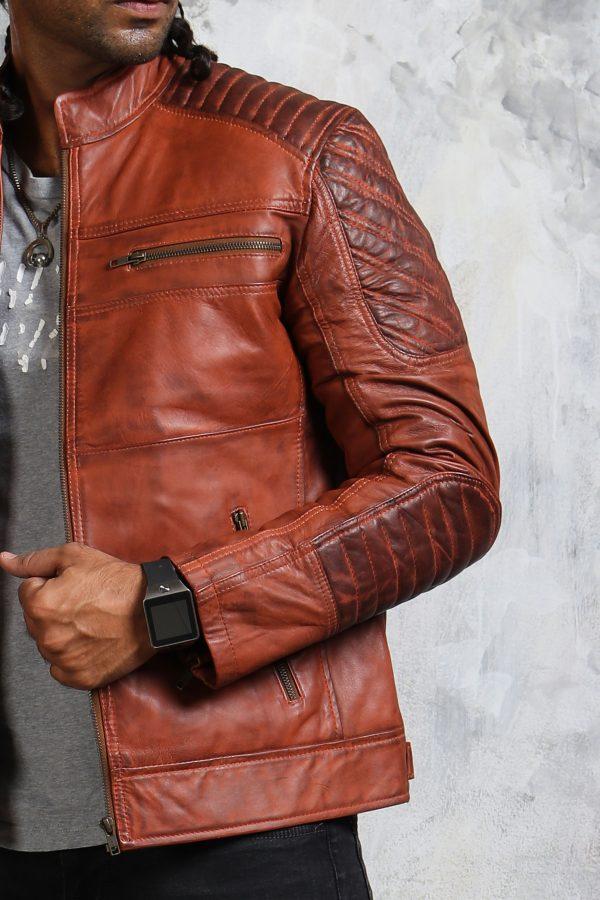 Mens Biker Leather Jacket Joker