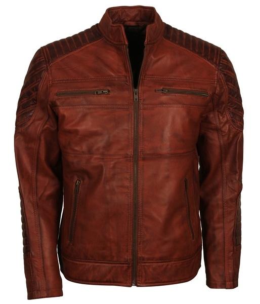 Suicide Squad Brown Leather Biker Jacket