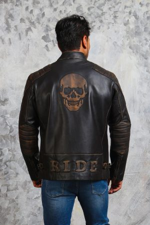 Skull Motorcycle Jacket Mens Outfit