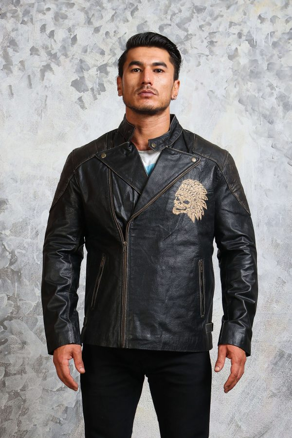 chief skull motorcycle leather jacket
