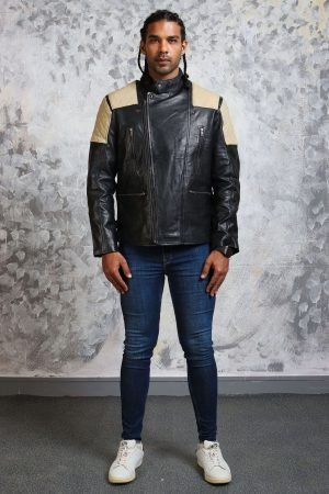 leather motorcycle jacket mens quilted
