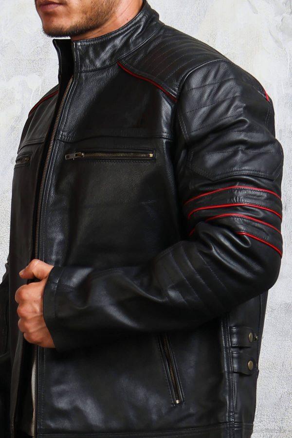 Red and Black Biker Jacket