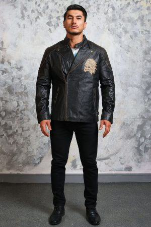 skull motorcycle jacket mens leather