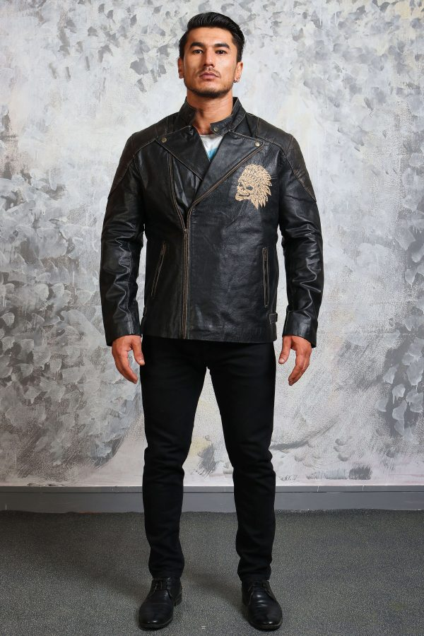 skull motorcycle jacket mens leather