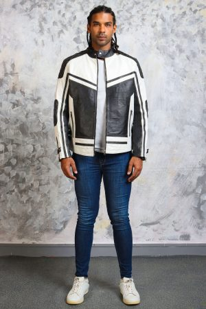 white black leather jacket mens-biker