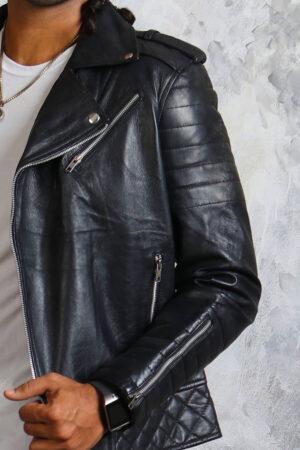 Black Leather Jacket for Bikers
