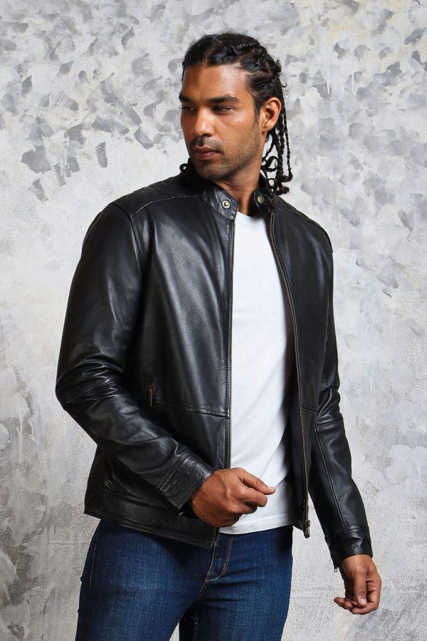 Skull leather jacket for mens