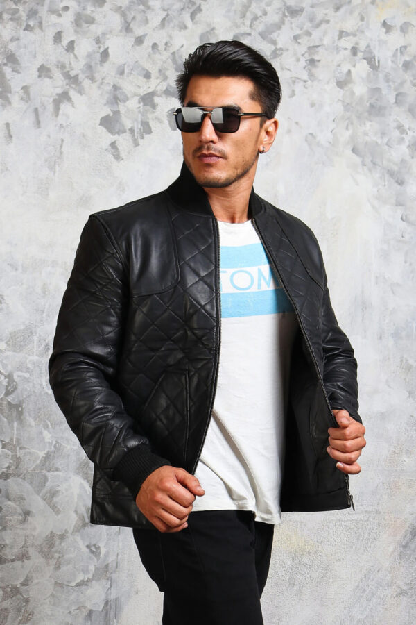 Mens Genuine Leather Bomber Jackets