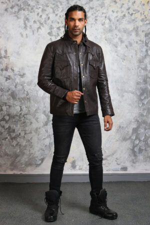 Trucker Leather Jacket for Men