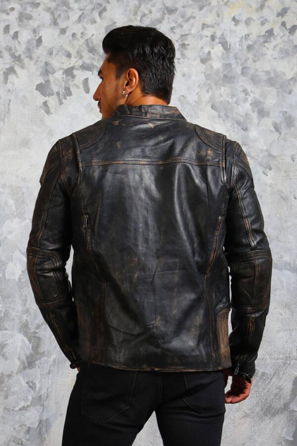 Vintage Biker Leather Jacket Mens