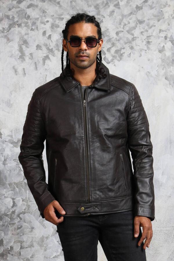 Black Leather Jacket Mens Fashion