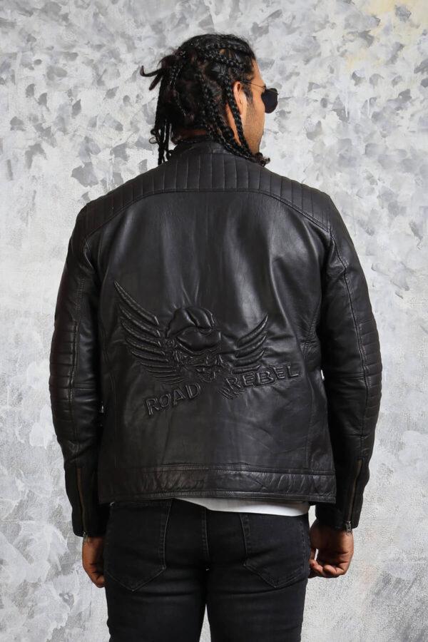 Road Rebel Black Leather Jacket for Men